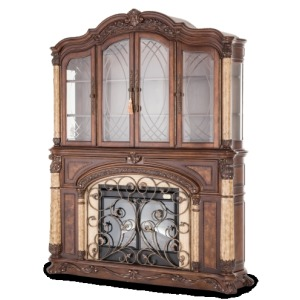 Fireplace w/Curio Top (3 pc)