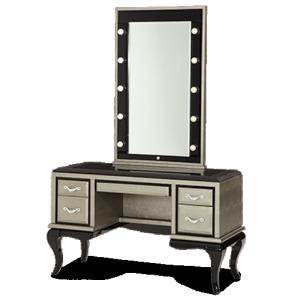 Titanium Vanity/Desk & Mirror