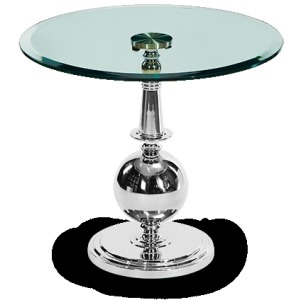 Accent Round Glass Table Set (2 pc)
