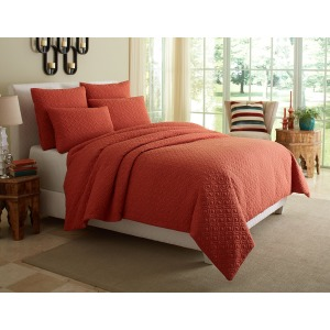 Fillmore 5pc King Coverlet/Duvt Coral (5 PC A)