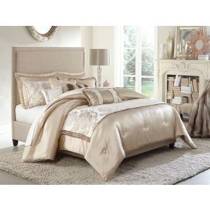 Palermo 10 Pc King Comforter Set Sand