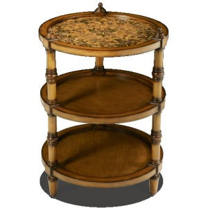 3-Tier Round Accent Tables Small