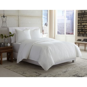 Ashworth 3 pc King Cverlet/Duvet White (3pc A)