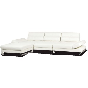 Marco 3 pc Leather  Sectional Opt1 St. Steel