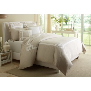 7pc King Duvet Set Natural