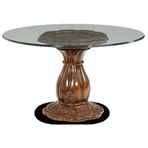 54'' Round Glass Top Dining Table (2 pc)