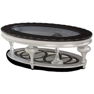 Black Onyx Oval Cocktail Table