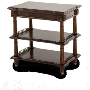 Accent Table, Side Table w/2 Shelves