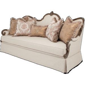 PlatinedeRoyale Wood Sofa - Lt Espresso