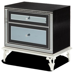 Black Iguana Upholstered Nightstand