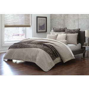 10pc King Comforter Set Taupe