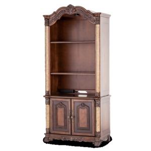 Victoria Palace Bookcase Hutch w/2 Door Cabinet L.Espresso