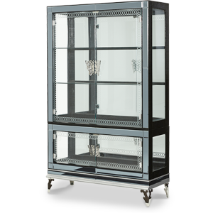Black Iguana Curio w/Glass Doors (2 pc)