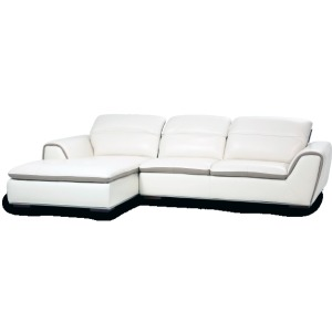 Vanuto 2 pc Leather  Sectional Opt1 St. Steel