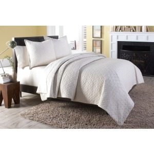 Taylor 3 pc King Coverlet/Duvet Set Linen (3PC A)