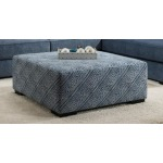 Tussah Blue Cocktail Ottoman