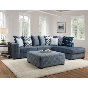 Tussah Blue 2PC Sectional