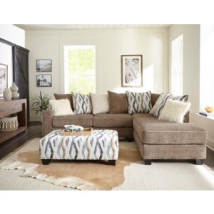 Zaftig Taupe 2PC Sectional