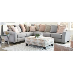 Groovy Black 2PC Sectional