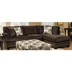 Groovy Chocolate 2 PC Sectional