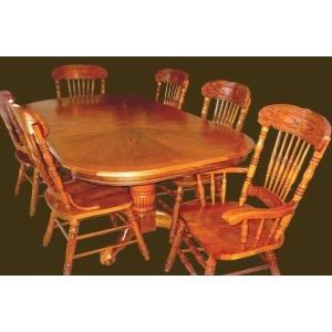 Sunburst Oak Veneer Wood Edge-DP Table