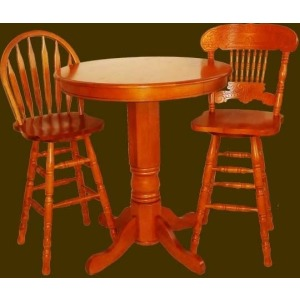 Hardwood Windsor Back Barstool