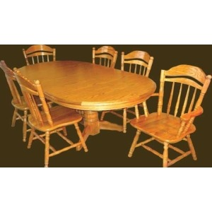 Solid Oak Arm Chair