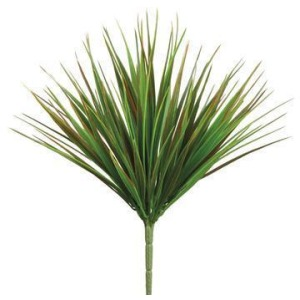 "12"" Vanilla Grass Bush  Green Red"