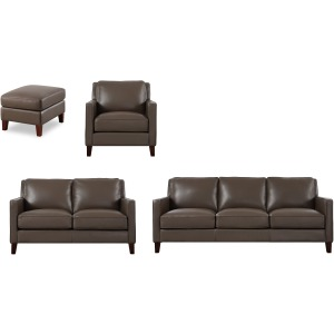 New Haven 4PC Living Room Set - Bedford Granite