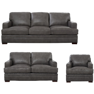 Rockville 3PC Living Room Set - Chatham Gray
