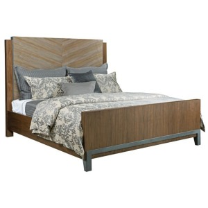 Chevron Maple Queen Bed