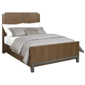 AD Modern Synergy Chevron Walnut King Bed