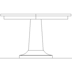 LAURENT ROUND DINING TABLE TOP