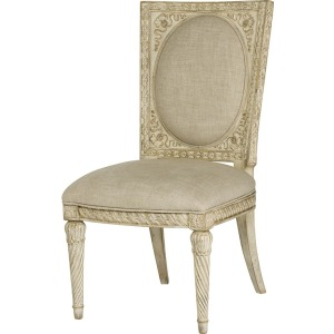 Side Chair-White Veil Finish-KD