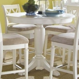Camden Light Round Counter Height Ped Table