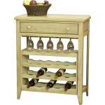 Poplar Wine Rack Table