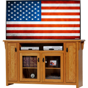 Oak Tall TV Stand