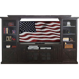 Rustic 4 PC Entertainment wall