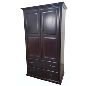 Poplar Double Door Armoire w/ Drawers