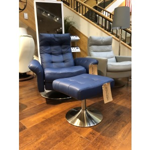 Pileus Tufted Large Recliner Chair & Ottoman
