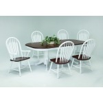 Farmhouse and Traditional Windsor 7PC Dining Set