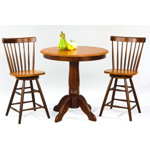 3 PC Solid Hardwood Pub Set
