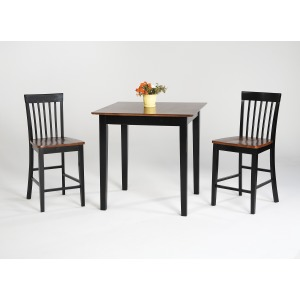 5PC Pub Table Set - Dark Cherry