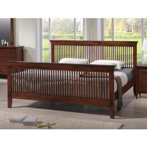 Mission Queen Bed - Merlot