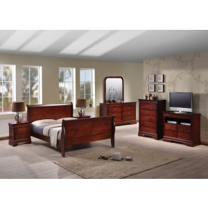 Louis Philippe 5 Drawer Dresser