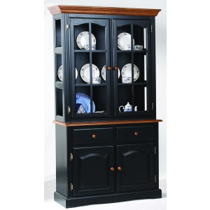 Farmhouse 2 Door Curio Hutch Top