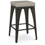 Upright Counter Height Stool - Upholstered Seat