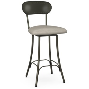 Bean Counter Height Swivel Stool - Upholstered Seat