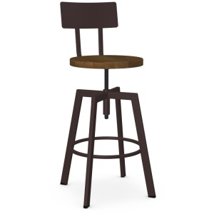 Architect Screw Stool - Wood Seat