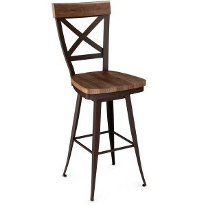 Kyle Counter Swivel Stool - Distressed Wood